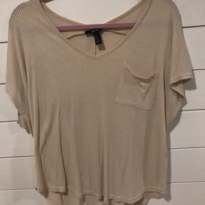 FOREVER 21 | Cream/Tan Loose Fitting T-shirt